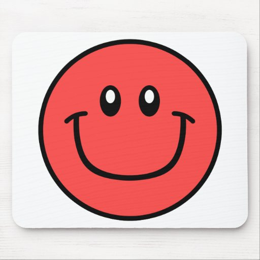 Smiling Face Mousepad Red 0003