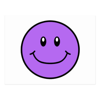Smiling Face Postcard Purple 0001