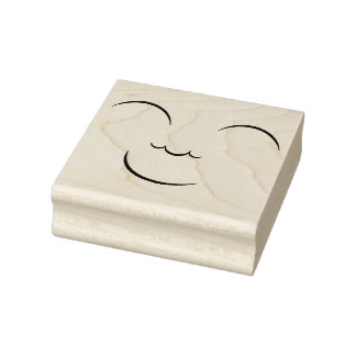 Smiling Face Rubber Stamp