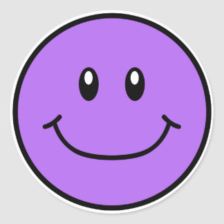 Smiling Face Stickers Purple 0001