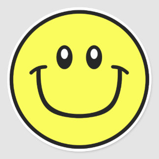 Smiling Face Stickers Yellow 0003