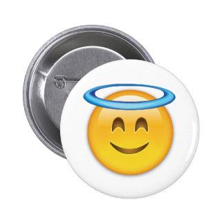 Smiling Face With Halo Emoji 6 Cm Round Badge