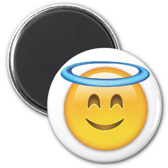 Smiling Face With Halo Emoji Magnet