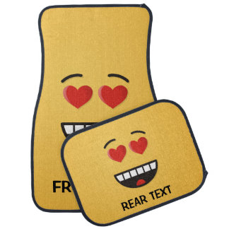 Smiling Face with Heart-Shaped Eyes Car Mat