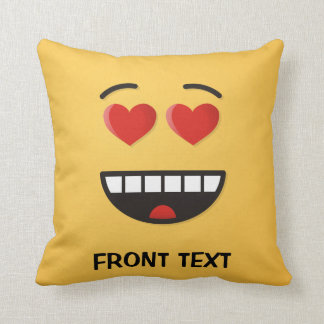 Smiling Face with Heart-Shaped Eyes Cushion
