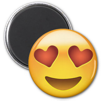 Smiling Face With Heart Shaped Eyes Emoji Magnet