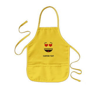 Smiling Face with Heart-Shaped Eyes Kids Apron
