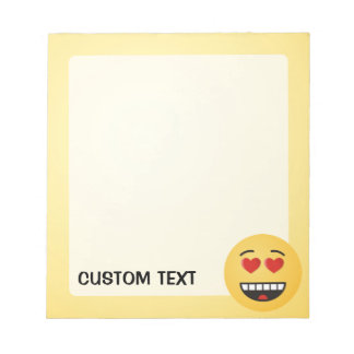 Smiling Face with Heart-Shaped Eyes Notepad