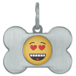 Smiling Face with Heart-Shaped Eyes Pet Tag