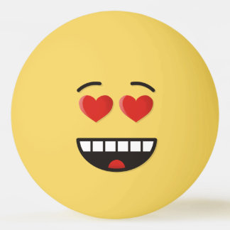 Smiling Face with Heart-Shaped Eyes Ping Pong Ball