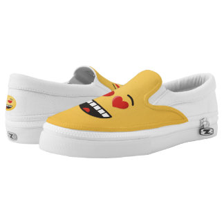 Smiling Face with Heart-Shaped Eyes Slip-On Shoes
