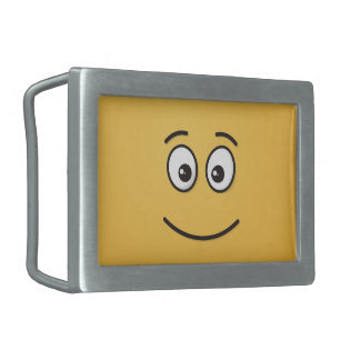 Smiling Face with Open Eyes Belt Buckles