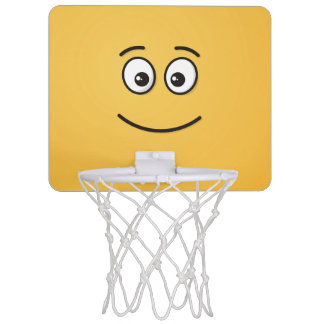 Smiling Face with Open Eyes Mini Basketball Hoop