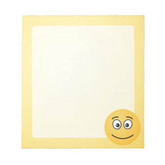 Smiling Face with Open Eyes Notepad