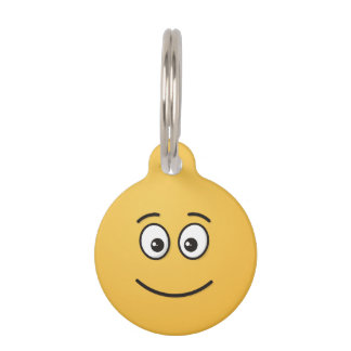 Smiling Face with Open Eyes Pet ID Tag