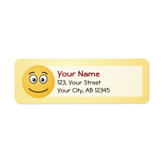 Smiling Face with Open Eyes Return Address Label