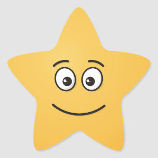 Smiling Face with Open Eyes Star Sticker