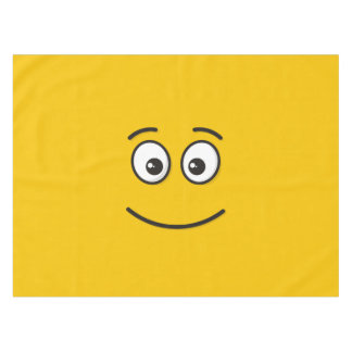 Smiling Face with Open Eyes Tablecloth