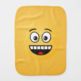 Smiling Face with Open Mouth Burp Cloth