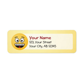 Smiling Face with Open Mouth Return Address Label