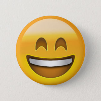 Smiling Face With Open Mouth & Smiling Eyes Emoji 6 Cm Round Badge