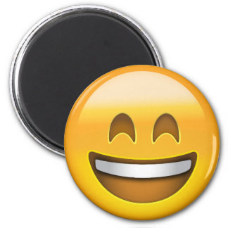 Smiling Face With Open Mouth & Smiling Eyes Emoji 6 Cm Round Magnet