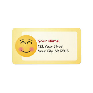 Smiling Face with Smiling Eyes Address Label