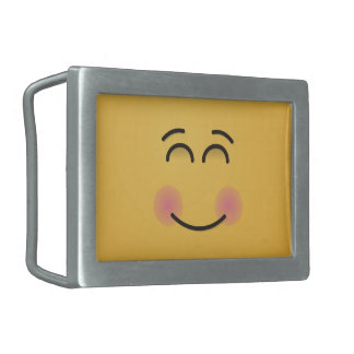 Smiling Face with Smiling Eyes Belt Buckles