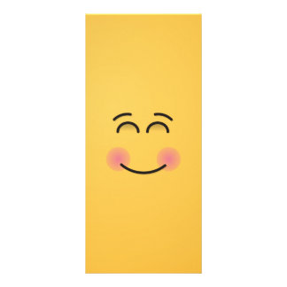 Smiling Face with Smiling Eyes Custom Rack Card