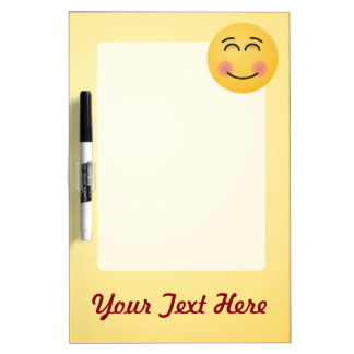 Smiling Face with Smiling Eyes Dry Erase Board