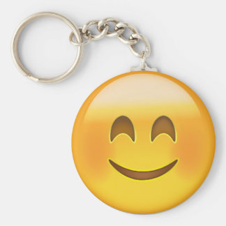 Smiling Face With Smiling Eyes Emoji Basic Round Button Key Ring
