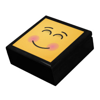 Smiling Face with Smiling Eyes Large Square Gift Box