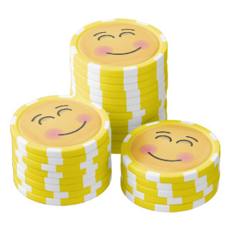 Smiling Face with Smiling Eyes Poker Chips Set
