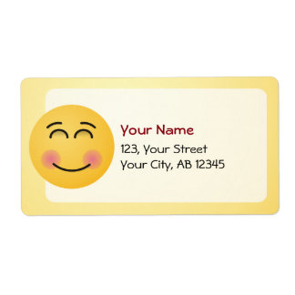 Smiling Face with Smiling Eyes Shipping Label