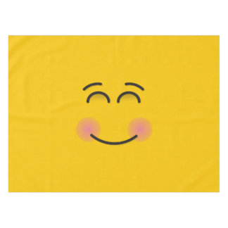 Smiling Face with Smiling Eyes Tablecloth