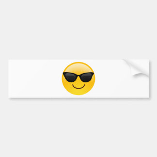 Smiling Face With Sunglasses Cool Emoji Bumper Sticker