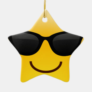 Smiling Face With Sunglasses Cool Emoji Ceramic Star Decoration