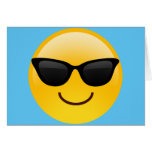 Smiling Face With Sunglasses Cool Emoji Greeting Card