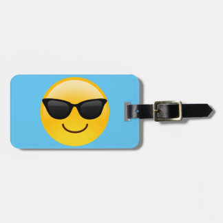 Smiling Face With Sunglasses Cool Emoji Luggage Tag