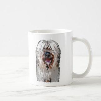 Smiling Fawn Briard Basic White Mug