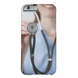 Smiling female doctor with stethoscope barely there iPhone 6 case