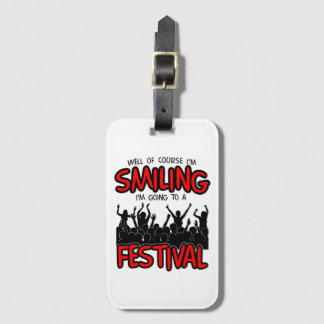 SMILING FESTIVAL (blk) Luggage Tag