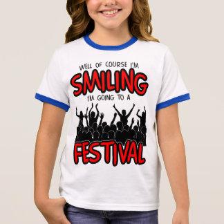 SMILING FESTIVAL (blk) Ringer T-Shirt