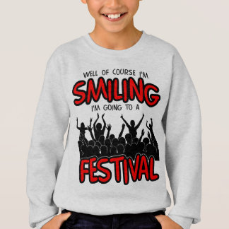 SMILING FESTIVAL (blk) Sweatshirt
