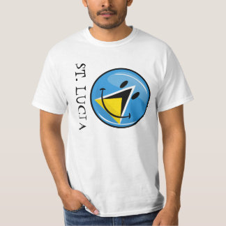 Smiling Flag of Saint Lucia T-Shirt