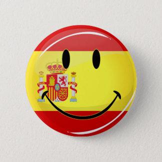Smiling Flag of Spain 6 Cm Round Badge
