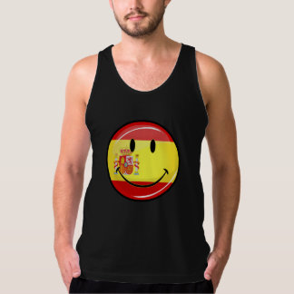 Smiling Flag of Spain Tank Top