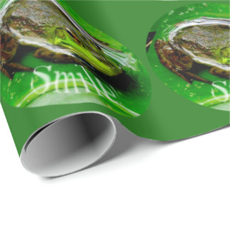 Smiling Frog Dots Wrapping Paper