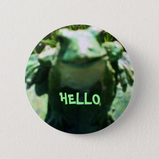 SMILING FROG,HELLO button