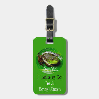 Smiling Frog- I belong to Luggage Tag